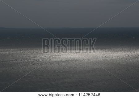 Spectacular Sea Horizon In Dusk