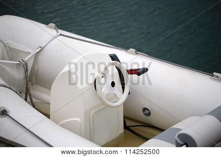 Helm Of Modern Ocean-going Launch