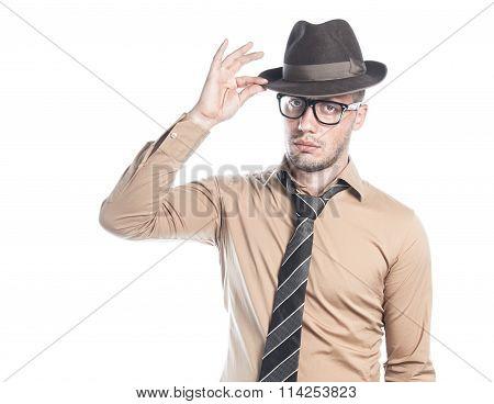 Retro American Businessman
