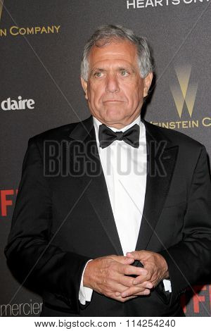 BEVERLY HILLS, CA - JAN. 10: Les Moonves arrives at the Weinstein Company and Netflix 2016 Golden Globes After Party on Sunday, January 10, 2016 at the Beverly Hilton Hotel in Beverly Hills, CA.