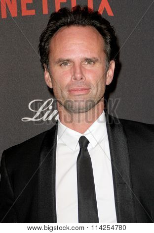 BEVERLY HILLS, CA - JAN. 10: Walton Goggins arrives at the Weinstein Company and Netflix 2016 Golden Globes After Party on Sunday, January 10, 2016 at the Beverly Hilton Hotel in Beverly Hills, CA.