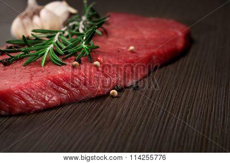 Raw Fresh Beef Meat On A Cutting Board