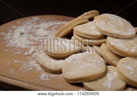 Dough In A Circular Shape