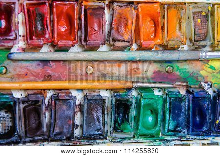 Old Professional Watercolor Paints
