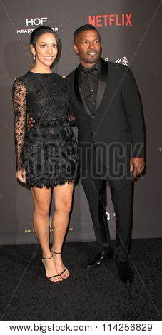 BEVERLY HILLS, CA - JAN. 10: Corrine Foxx and Jamie Foxx arrives at the Weinstein Company and Netflix 2016 Golden Globes After Party,  Jan. 10, 2016 at the Beverly Hilton Hotel in Beverly Hills, CA.