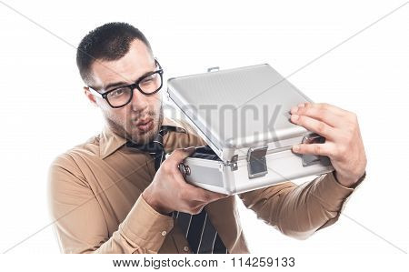 Businessman With Protective Case