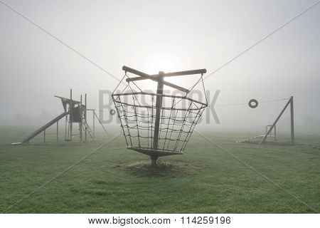 Foggy Deserted Playground