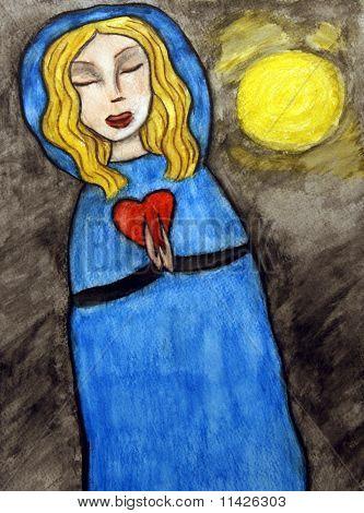 Love Prayer By Moon Light