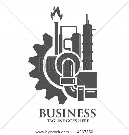 factory and industries logo concep