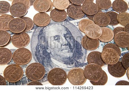 Portrait of Franklin on the hundred dollar bill