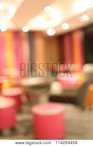 Coffee Shop In A Blur Style.