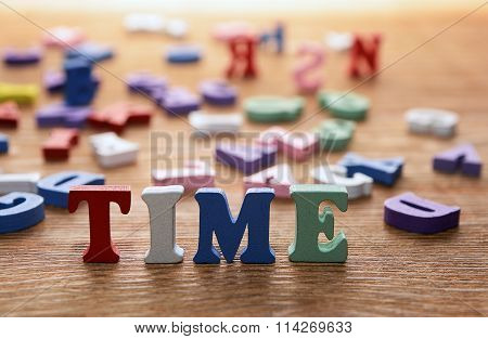 Time  Letters   On   Wood