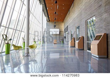 Empty Foyer Area Of Modern Office
