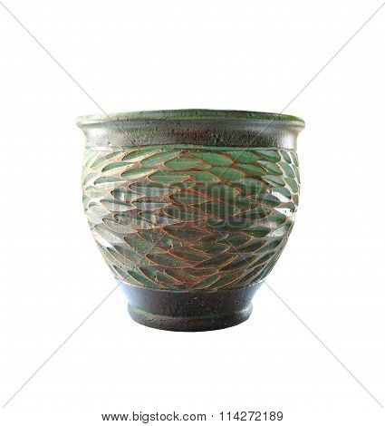 Jardiniere Or Flowerpot Isolated On White Background.