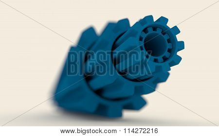 Abstract Industrial Theme Background With Gears