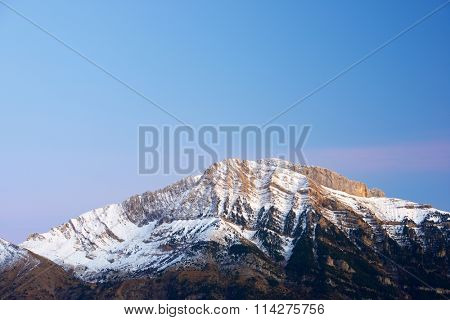 Pena Blanca Peak, Tendenera Mountains, in Tena Valley, Panticosa, Aragon, Huesca, Spain.
