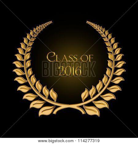 graduation 2016 gold laurel