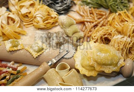 Fresh Pasta Made At Home By A Good Housewife