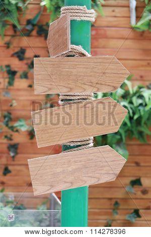 Wooden Signposts For Navigation.