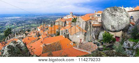 most beautiful villages - Monsanto , over granite rocks . Portug