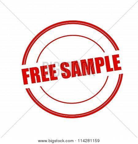 Free Sample Red Stamp Text On Circle On White Background