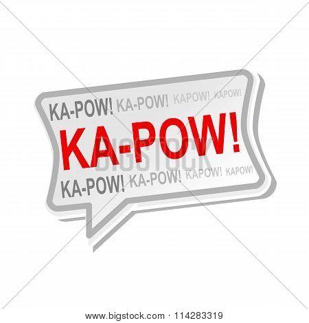 Ka-pow Multicolored Word On Gray Speech Bubbles