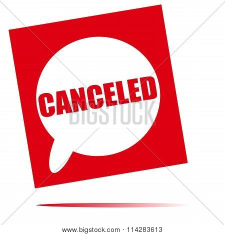 Canceled Speech Bubble Icon