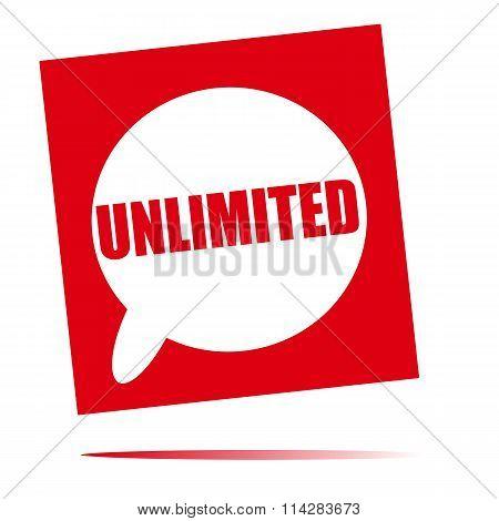 Unlimited Speech Bubble Icon