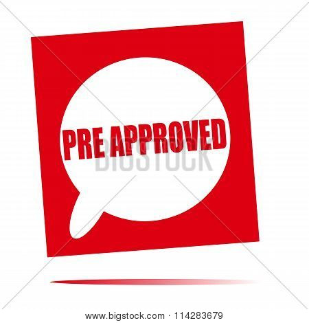 Pre Approved Speech Bubble Icon