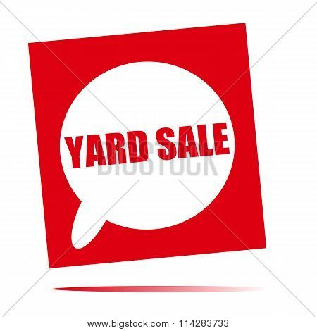 Yard Sale Speech Bubble Icon