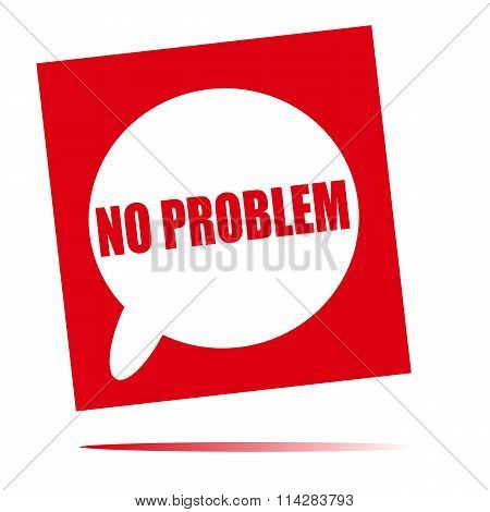 No Problem Speech Bubble Icon