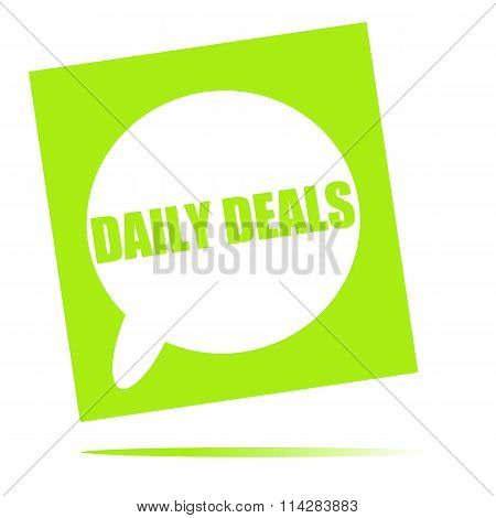 Daily Deals Speech Bubble Icon