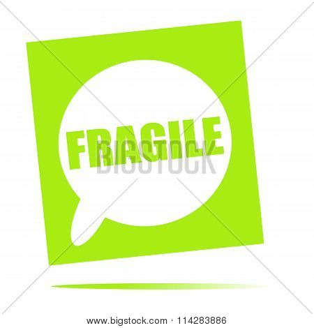 Fragile Speech Bubble Icon