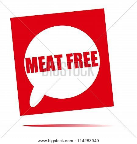 Meat Free Speech Bubble Icon