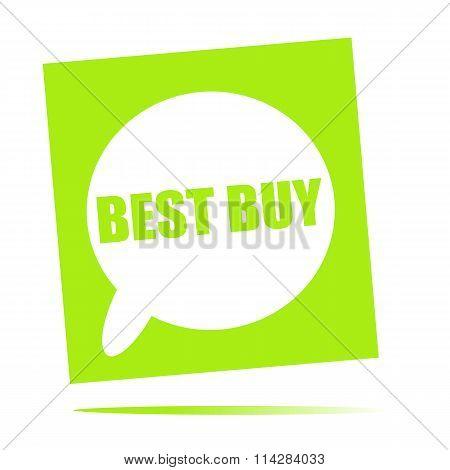 Best Buy Speech Bubble Icon