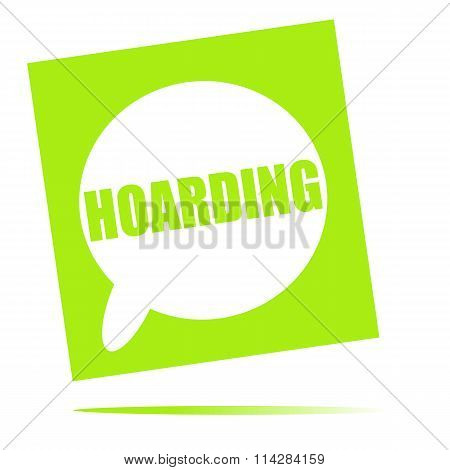 Hoarding Speech Bubble Icon
