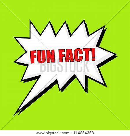 Fun Fact Wording Speech Bubble