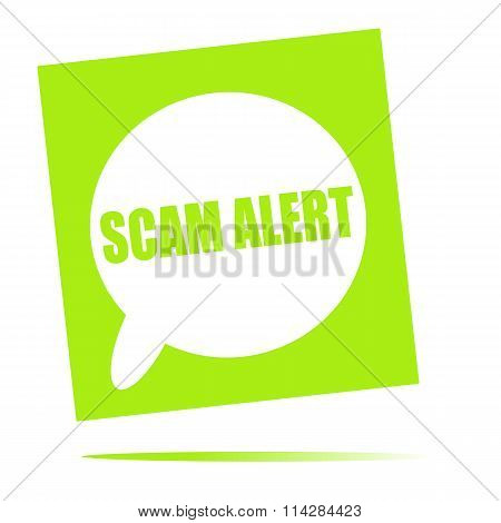 Scam Alert Speech Bubble Icon