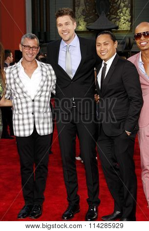 Adam Shankman, Scott Speer and Jon M. Chu at the Los Angeles premiere of