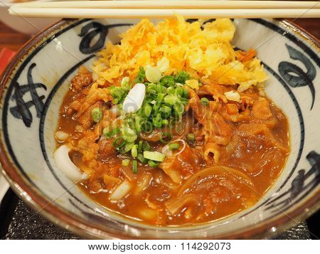 Curry Udon with Tempura