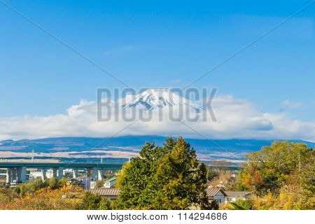 View of Fuji mountain