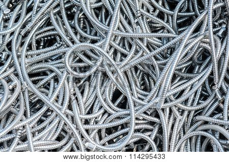 Metal Pipes In A Pile