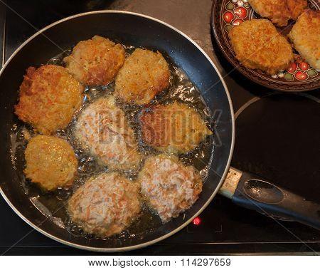 Traditional Ukrainian Homemade Potato Pancakes (draniks)