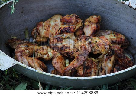 Chicken Wings Of A Barbecue