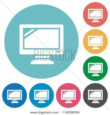 Flat Monitor Icons
