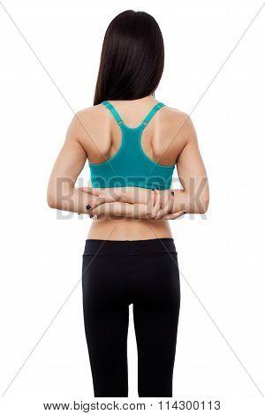 Beautiful Fitness Lady Doing Workout
