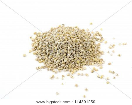 Pile Of Pearl Barley Isolated On White