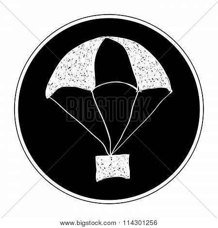 Simple Doodle Of A Parachute