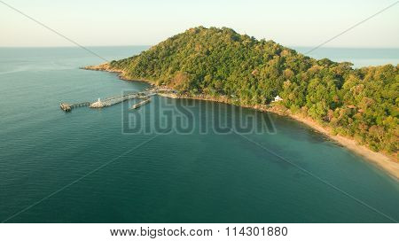 Aerial View Of Khao Laem Ya And Samed Island National Park In Rayong Province Eastern Of Thailand Im