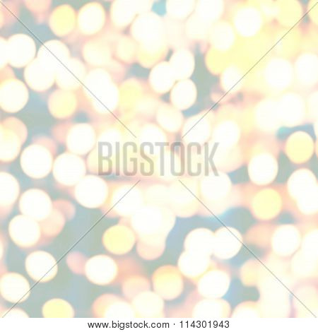 Boke Twinkling Lights Festive Holiday Party Background With Blurry Special Magic Effect.